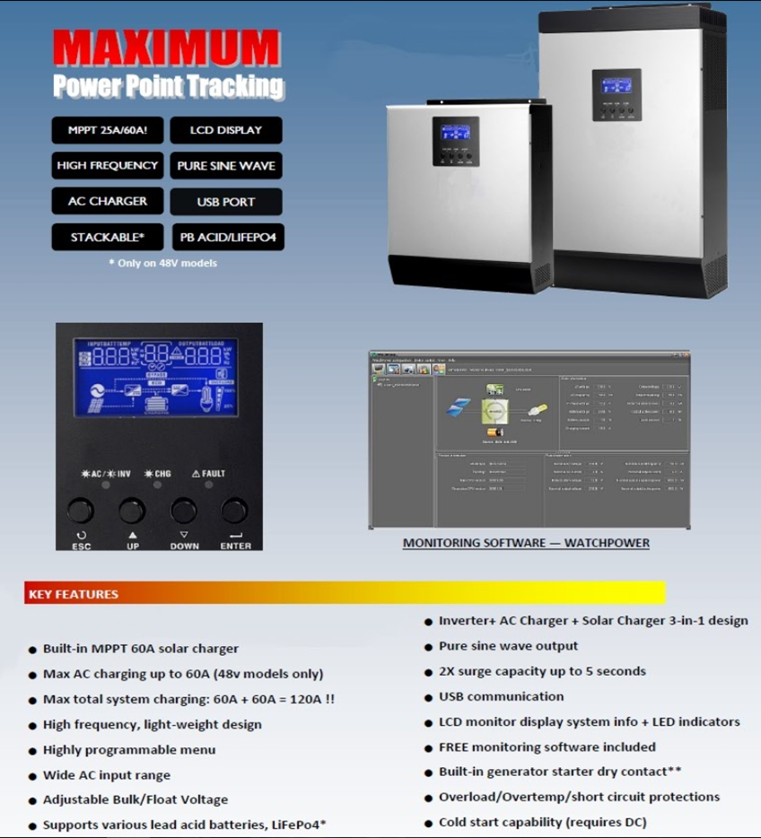 Inverter, AC Charger And Solar Charger 3 in 1 Design (High Frequency) Brochure